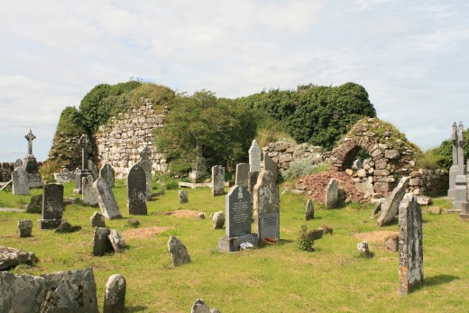 Ruins of a 5th century monastery thought to have been founded by St. Patrick