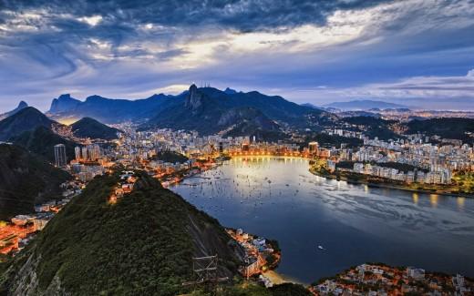 Panorama of the Rio de Janeiro Skyline
