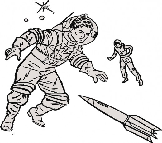 The 1940s-50s vision of space exploration.