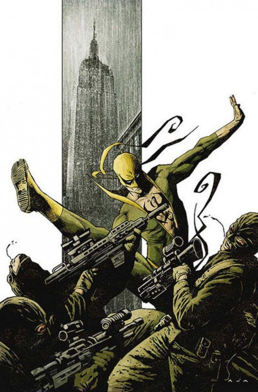 Iron Fist fighting in the comics.