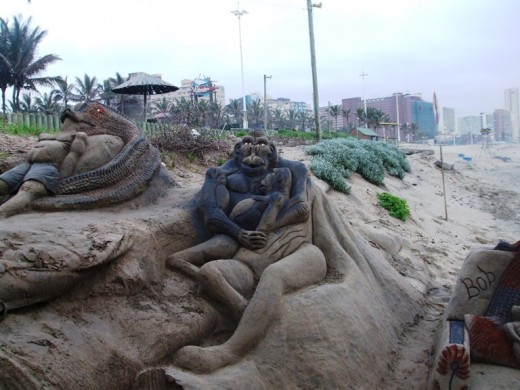Beach art, Durban, South Africa
