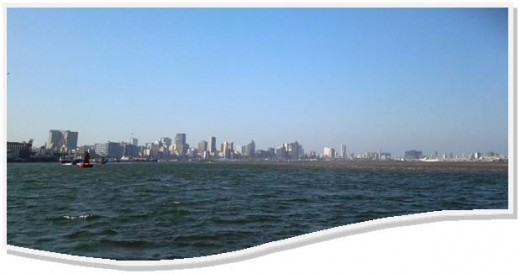 Durban from Durban Harbour