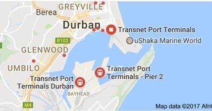 Durban Harbour @ Google Maps
