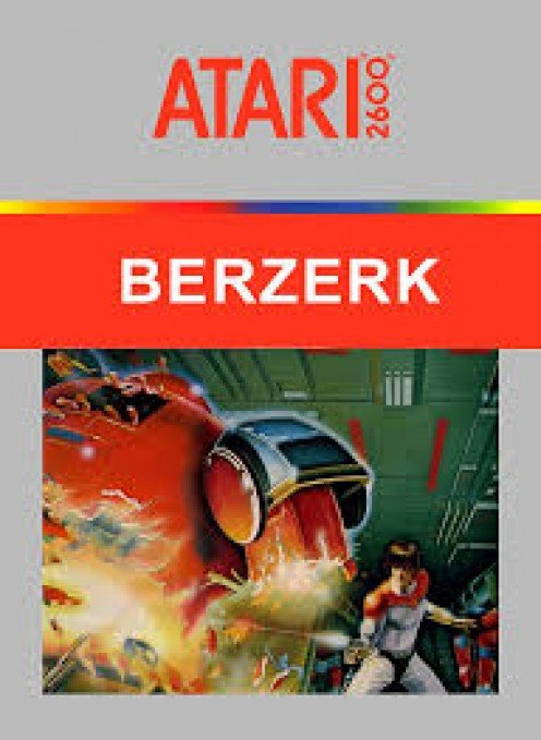 Berzerk is a game in which you must escape a maze as you kill robots along the way.