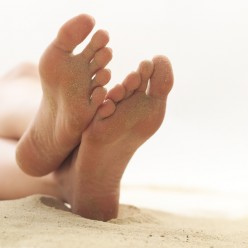 Cure sweaty feet using medical methods