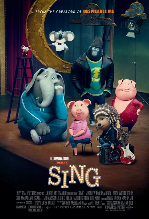 Sing theatrical movie poster