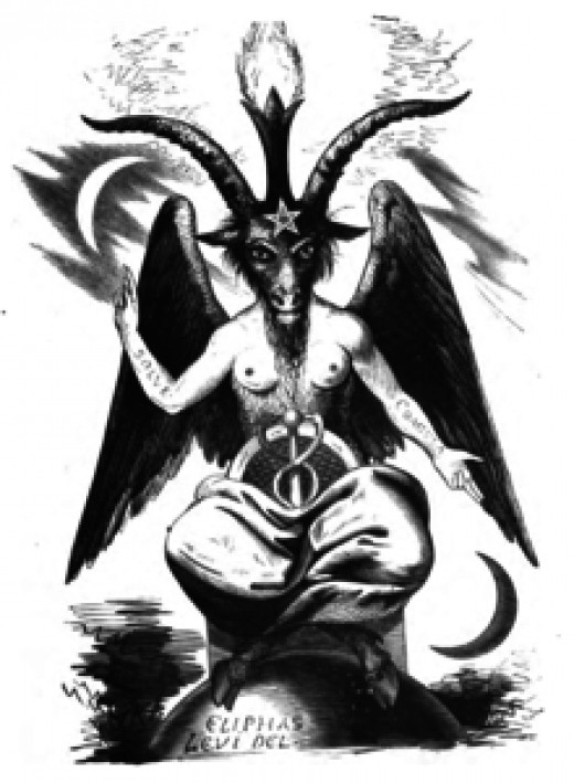 Image of Baphomet, often used by Christians to represent Satan.
