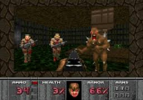 Doom was remade for the 32X with new weapons, enemies and improved sound effects.