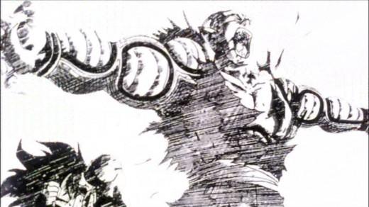 Piccolo Intervenes Nappa's Energy Beam