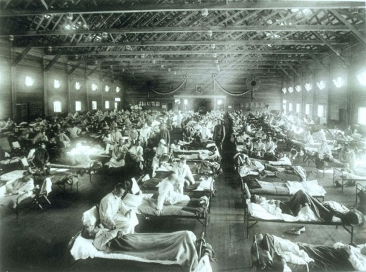 Spanish Flu, killing up to 100 million worldwide