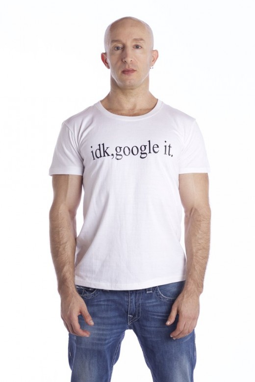 """I don't know, Google It' is probably the most used sentence nowadays. Say it with style through this simple and comfortable shirt. The longline tee is an essential for the fashion savvy guy or girl who's looking to get ahead of the style game!"