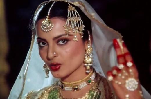 Rekha, as Umrao Jaan.