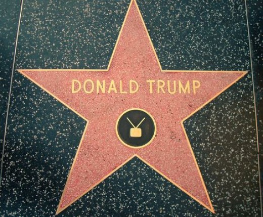 U.S. President Donald Trump has star on the Hollywood Walk of Fame in Los Angeles, California.
