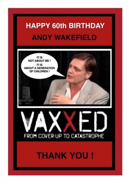 Director of Vaxxed Dr Andy Wakefield