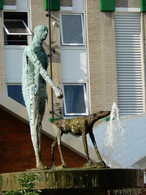 The Blind Beggar and His Dog, by Elizabeth Frink