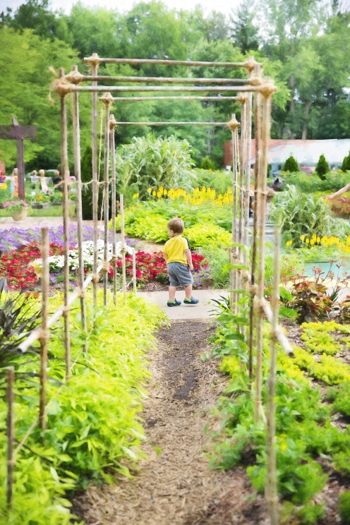 Planted gardens of design.