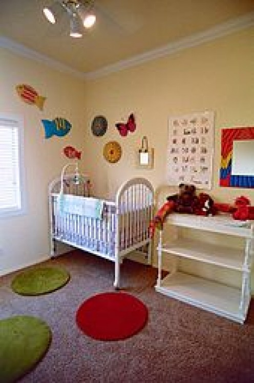 Staging  a nursery is a little more difficult. There is emotion tied to this room more so than any other.