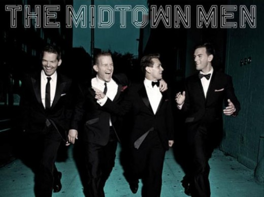 The Midtown Men are pictured dressed as they are for concert performance in Wichita Falls, Texas.