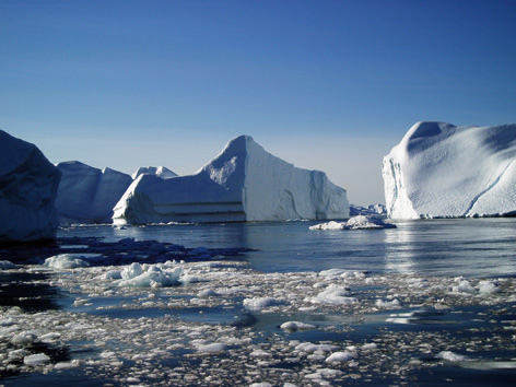 Global warming and climate change - shrinking our glaciers and Arctic ice.