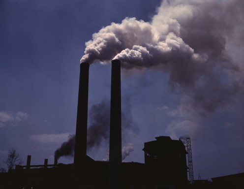 Alfred Palmer smokestacks - greenhouse gas emissions