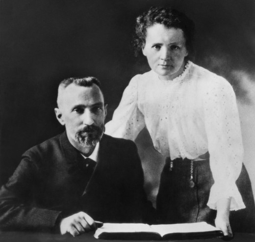 Marie Curie Pictured With Her Husband Pierre Curie