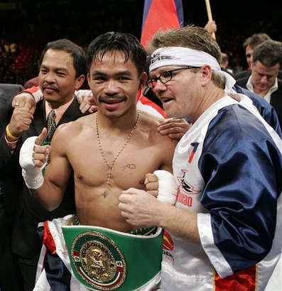 Manny and His Coach.