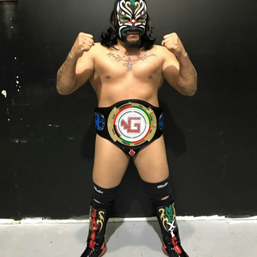 Tritón with his GALLI belt