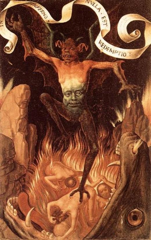 Hell by Memling, Musée des Beaux-Arts de Strasbourg, Strasbourg, France