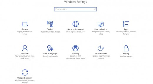 """Click """"System"""" when you get to the Windows Settings screen."""