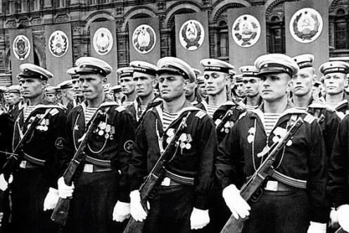 """""""The parade of victory over Nazi Germany at a red square Moscow USSR June 24, 1945"""""""