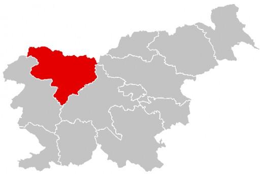 Location of Gorenjska statistical region