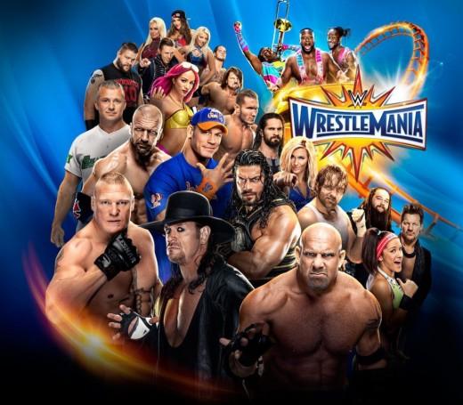 WWE Wrestlemania 33 Poster