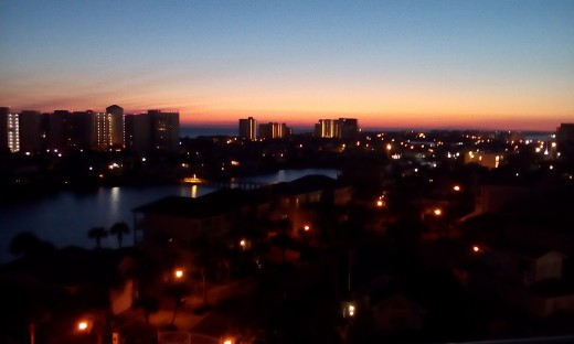 Sunset from our Balcony - Destin, FL