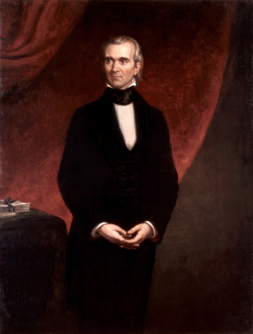 James Polk official White House portrait