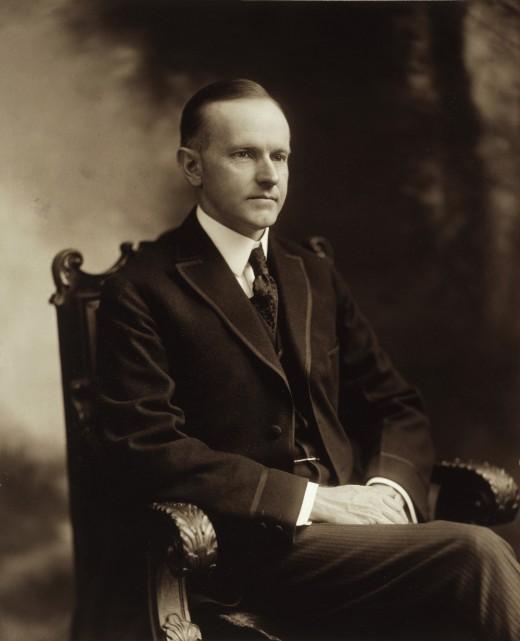 Calvin Coolidge's official White House portrait