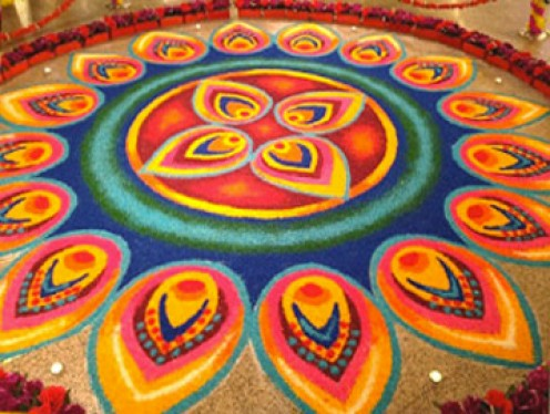 RANGOLI MADE ON ALMOST EVERY OCASSION