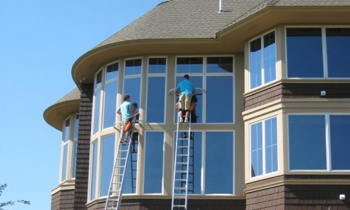 Accessibility is a problem for cleaning windows that are at an elevation