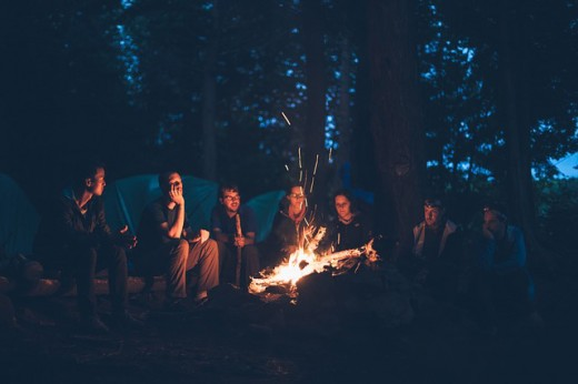 The campfire welcomes socializing, story telling, singing, and whatever is of interest to those in attendance.