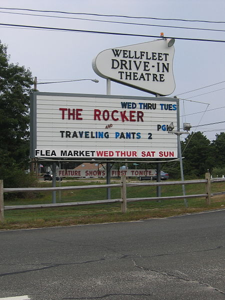 Wellfleet drive in theater.
