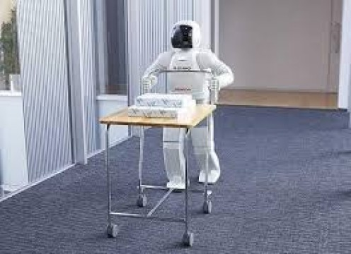 Honda ASIMO is a robot that is capable of serving drinks, dancing, climbing steps and even playing soccer against a human being.