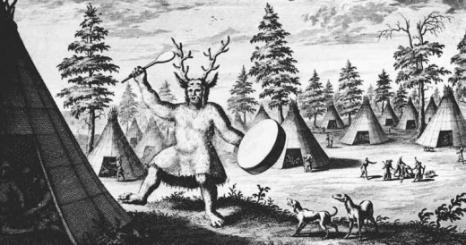 A shaman would often wear the hide or fur of an animal to help in taking on that animal's likeness or form.