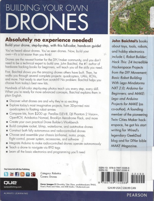 "Book Cover of ""Building Your Own Drones"""