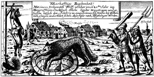 Society has been afraid of wolves since the Dark Ages. This is most likely connected to ancient shamanism and the fear of anything outside of the Church's lessons.