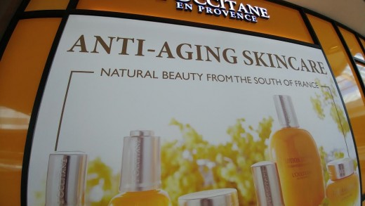 Products about arresting nature, i.e. getting old, are still around because some women believe that it will prevent wrinkles..