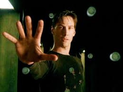 The Matrix was released in 1999 and it stars Keanu Reeves, Larry Fishburne and Carrie-Anne Moss.