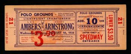 Lou Ambers lost his welterweight championship to the legendary Henry Armstrong.