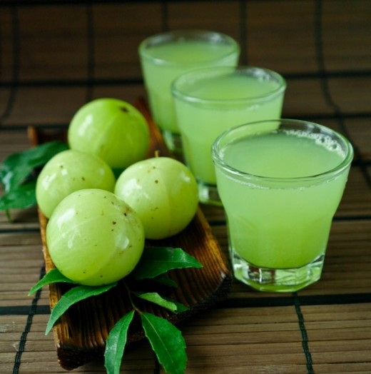 Gooseberry acts a good anti- oxidant, which destroy harmful free radicals which may further aggravate your liver. Drink gooseberry juice everyday.