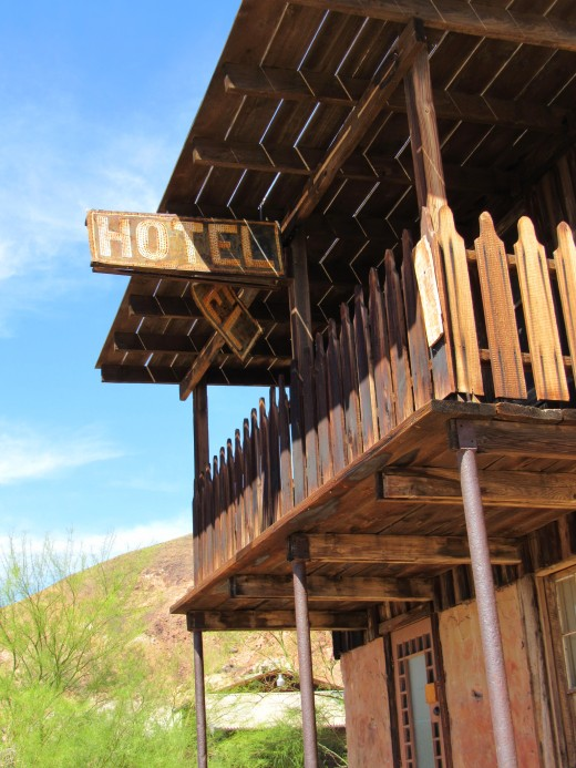 The old hotel at Calico.