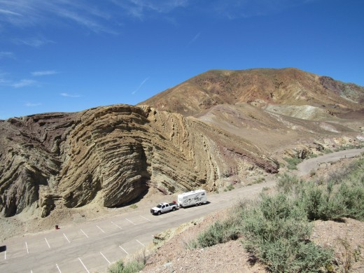 The anticline formation above the lower parking lot.
