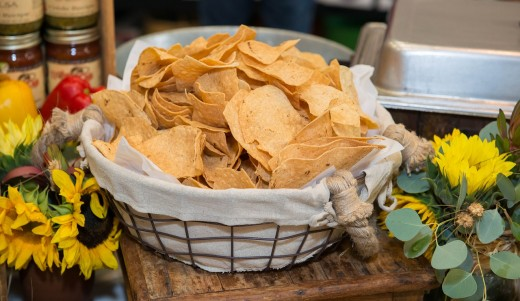 Baked, multigrain tortilla chips or veggie chips in moderation can satisfy your mouth's yearning for extra crunch and texture.